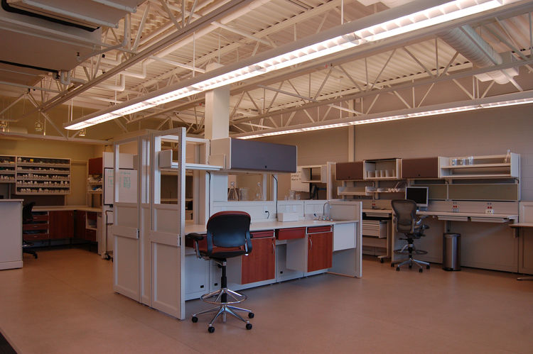 We visited the part of the building devoted to heathcare, an important part of Herman Miller's offerings since 1972 when they introduced a modular system of case goods and medical storage called Co/Struc. It was conceived by Bob Probst, who also came up w
