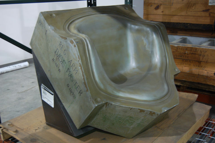 One half of the master mold used to make the Eames Plastic Armchair.