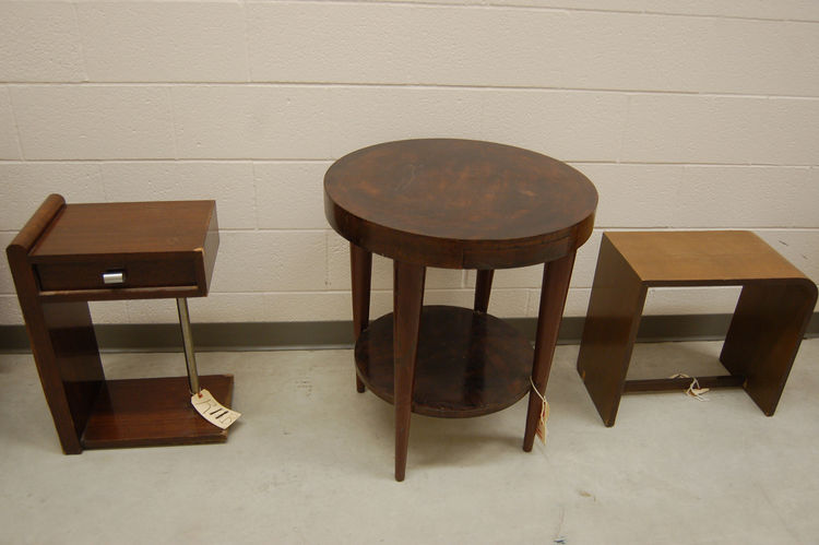 A trio of original Rohde–designed pieces, created for the 1932 World's Fair in Chicago.