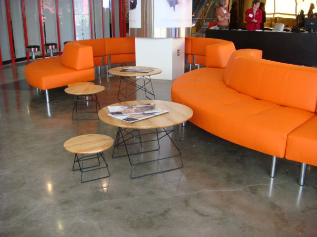 "Though known for their sleeper sofas, Denmark-based <a href=""http://www.innovationliving.com/"">Innovation Living</a>'s tangerine ""Endless"" sofa caught my eye."