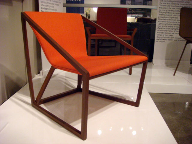 "Shin Azumi's Kite chair for <a href=""http://www.fornasarig.it/#m=Home"">Fornasarig</a> was among the most handsome designs on view at the Market."