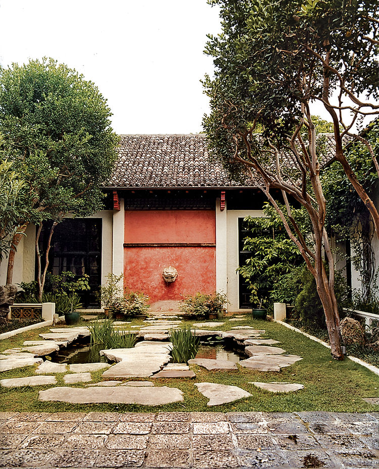 Hidden in a courtyard at the Honolulu Academy of Arts, the Joanna Lau Sullivan Chinese Garden is a tranquil retreat, with its lion-head fountain and fish pond.