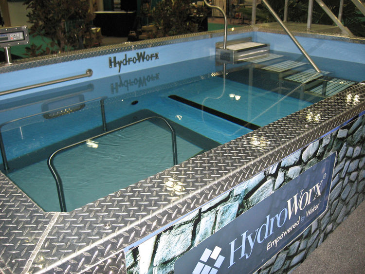 Seniors can't swim laps in it, but this HydroWorx pool is multifunctional, allowing for relaxing exercise as well as rehabilitative hydrotherapy. It comes equipped with ergonomic grab bars for safety, an underwater treadmill for workouts that are easy on