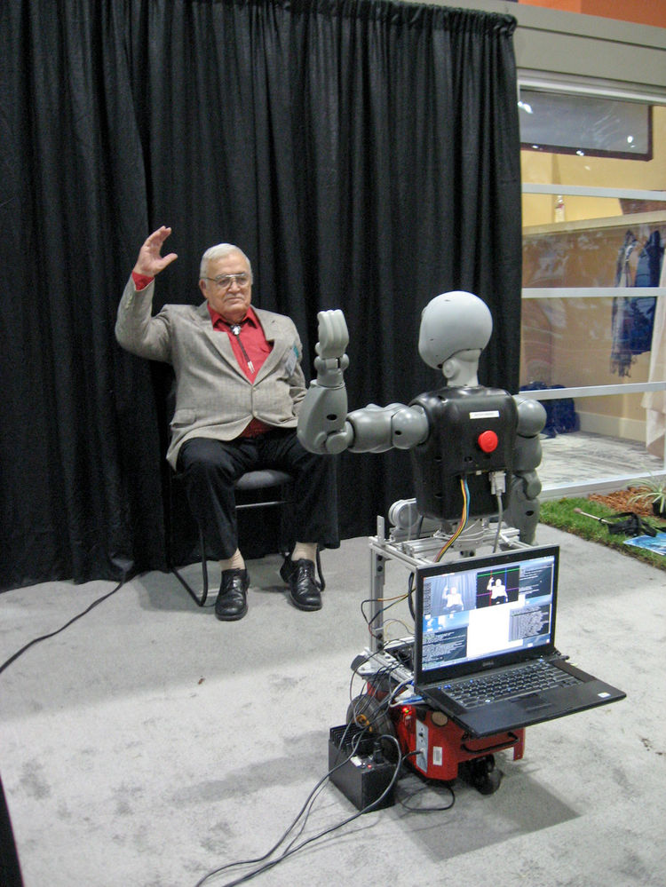 One-on-one fitness instruction plays a significant role in motivating seniors to stay in shape. A talking robot dubbed Bandit encourages a person seated in front of it to engage in customized exercises, ranging from easy to challenging. Although still in