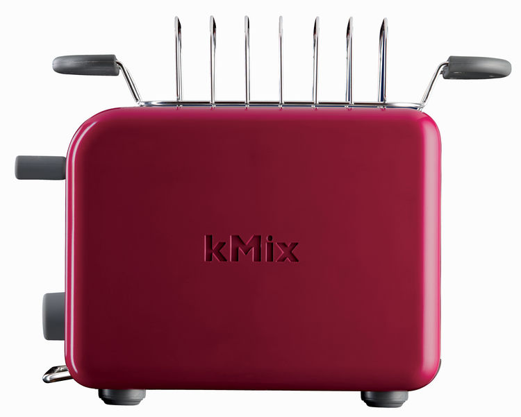 The toaster also features a stainless steel bun warmer and toast rack.