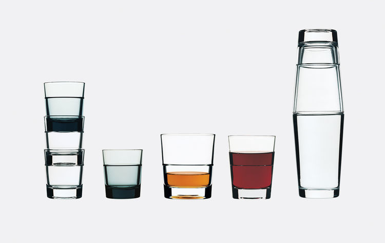 Relations stacking glasses for Iittala, 1999.