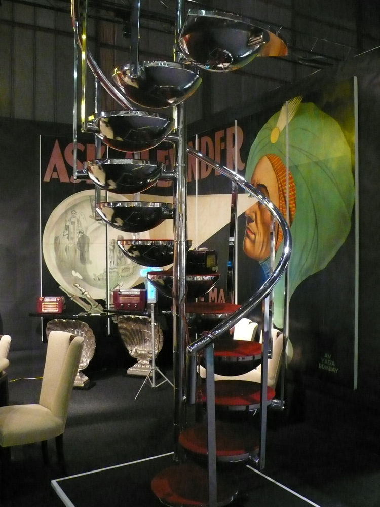 "A late-1960s spiral stair designed by an aeronautical engineer to lead passengers to the bar inside a 747. From <A HREF=""http://www.offthewallantiques.com/"">Off the Wall Antiques</A>."