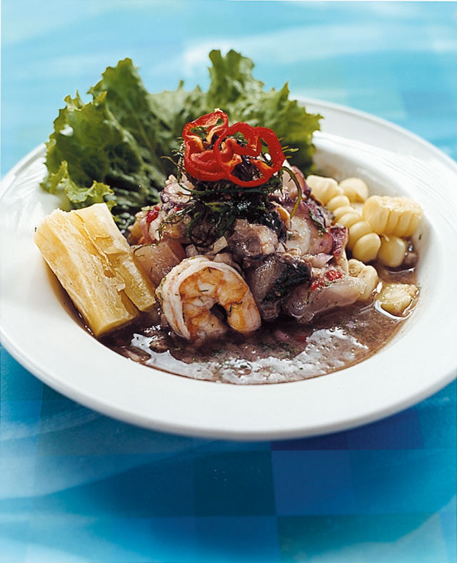 Ceviche, one Peru's culinary mainstays.
