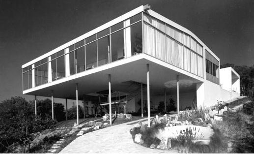 "The Glass House, shortly after it was built in 1951 as the home of Bo Bardi and her husband, Pietro Maria Bardi. ""The Glass House has to be ranked as a major theme of modern architecture,"" wrote Gio Ponti of the building in 1953. Image courtesy Acervo Ins"