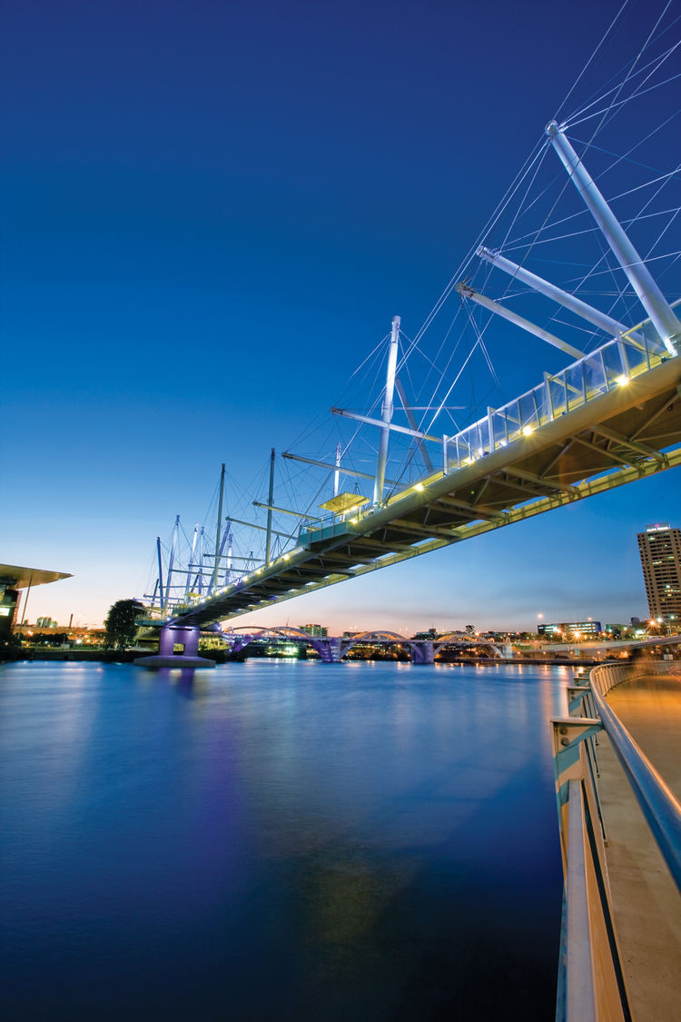 Kurilpa bridge in Brisbane, Australia