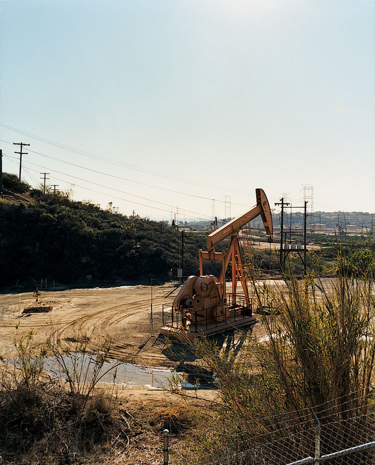 The Baldwin Hills, in Culver City, offer a glimpse of L.A. as it used to be: covered in pumping jacks and hoping for oil. The Hills are now a popular film location.