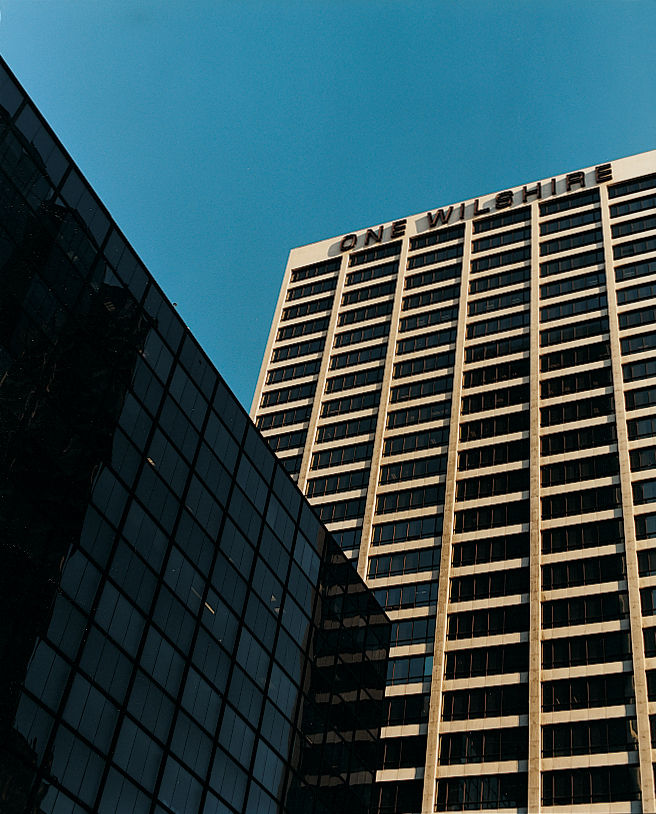 One Wilshire is what's called a telco hotel: The majority of its rooms are full of hard drives and cables, hosting information for global businesses.