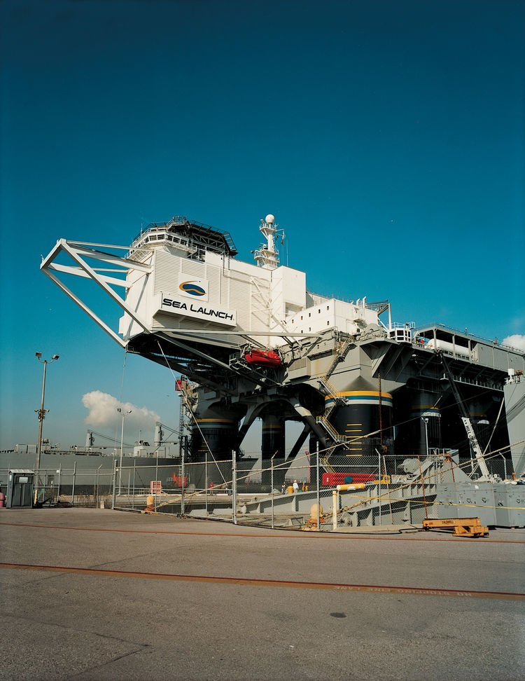Sea Launch is a converted oil rig. Its surreal new role is to launch private satellites into space from the equatorial Pacific.