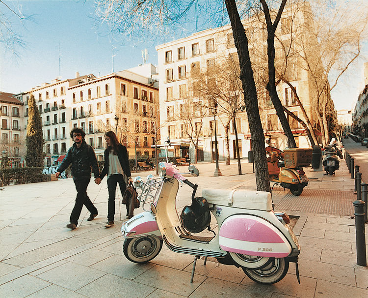 A European classic since its inception, the Vespa, and plenty of scooters like it, provides the perfect solution to modern Madrid's lack of parking.