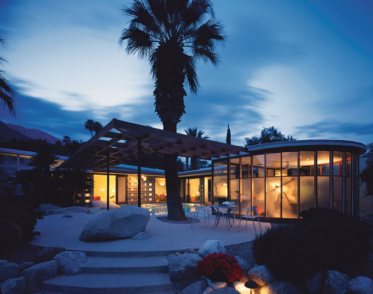 Marmol Radziner and Associates have restored and augmented a number of classic homes by California's original modernists. This image: The Loewy house designed by Albert Frey in 1946.