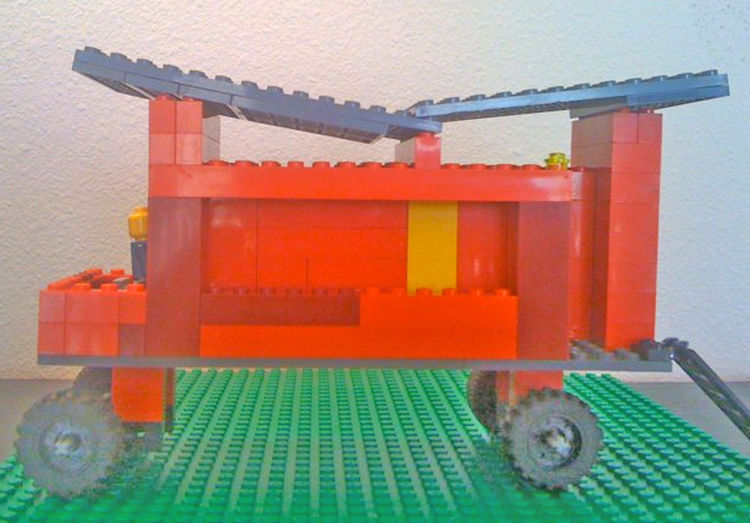 "One our favorite Kundig projects to visit are the <a href=""http://www.rollinghuts.com"">Rolling Huts</a>. One of our first Lego ventures was a re-creation of the Rolling Huts. There are a total of six in ""the herd"" but we didn't have enough Legos to comple"