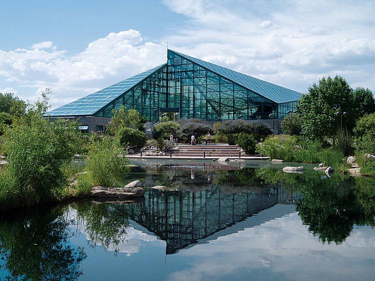 The Rio Grande Botanic Garden Conservatory. Photograph by Craig Campbell.