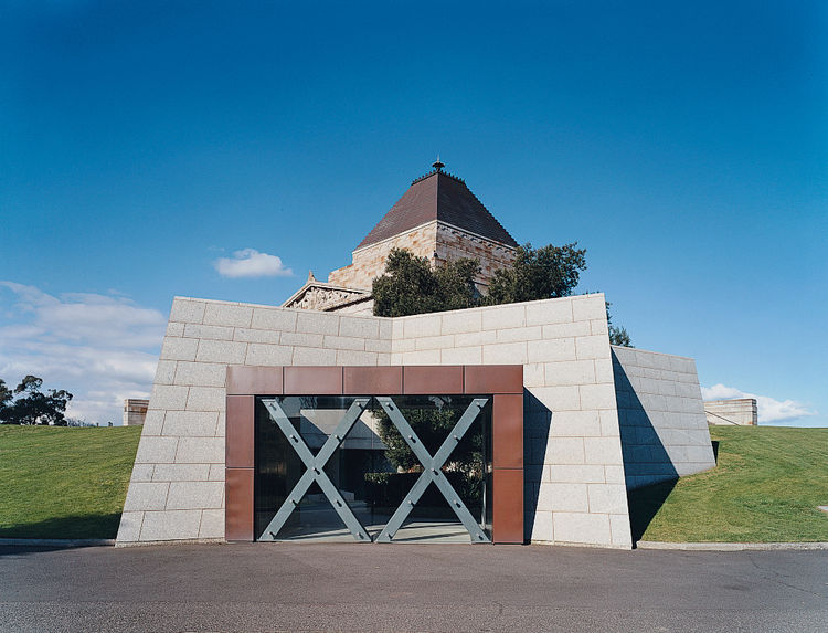 A monument to fallen soldiers, the Shrine of Remembrance is a symbolic memorial.