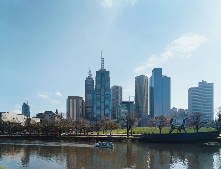 Across the Yarra River, Melbourne's skyline has grown dramatically since the 1980s.