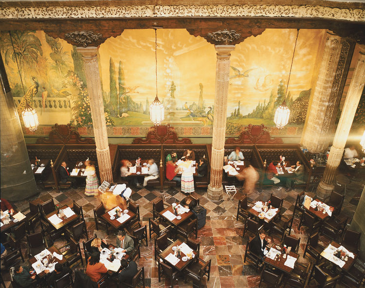 Sanborns department store, where you can feast beneath an Orozco mural.