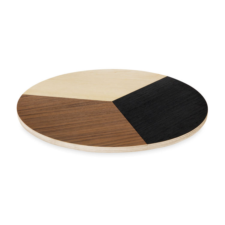 The birch plywood Miss Susan ($175), a mod take on a lazy susan, was designed by Cecilia León de la Barra last year.