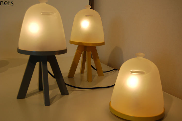 "Local Milanese firm <a href=http://a-rstudio.it/"">A/R Studio</a> created this series of lamps called Firefly. As designer Antigone Acconci explained to me, the inspiration came from childhood, when she and her siblings would collect fireflies in the summe"