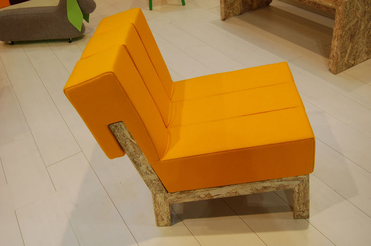 "Meet Rolf, an OSB (oriented strand board) chair by Malmö–based industrial designer Maria Gustavsson of <a href=http://swedishninja.com/products.html"">Swedish Ninja</a>. The piece, along with an armchair and a bench, comprise her candy-colored collection,"