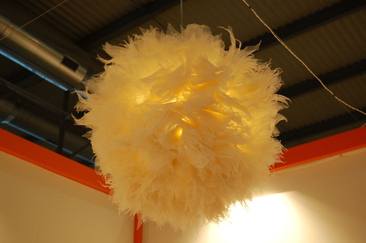 "Chinese designer Junjie Zhang crafted this delightful chandelier of feathers, called Bloom, for <a href=http://www.innovo-design.com"">Innovo</a>. To describe the piece, Zhang selected this quote by Chinese philosopher Laozi: ""What is grand in the world ha"