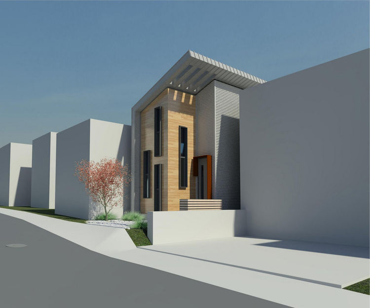 "The exterior design stayed true to its original incarnation, as envisioned in the architect's 3-D rendering. Image courtesy <a href=""http://www.linebox.ca/"">Linebox Studio</a>."