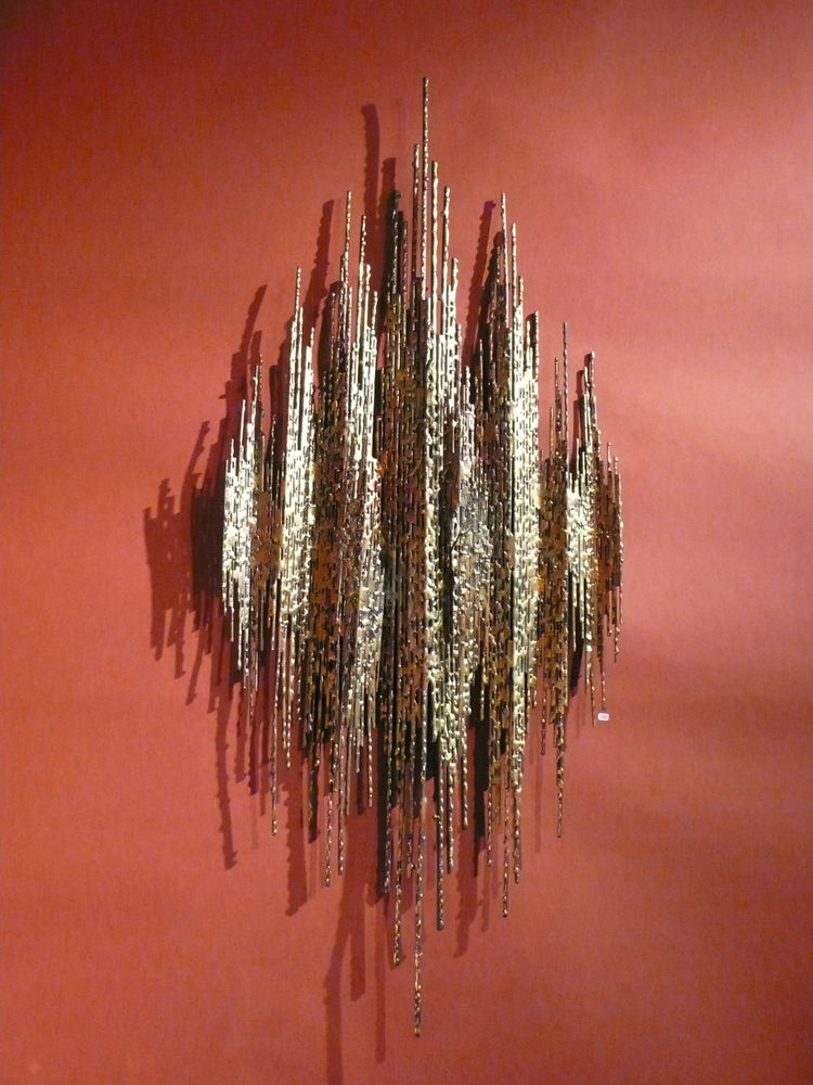 "Jewelry designer Curtis Jeré made this copper wall sculpture in the 1970s, from <a href=""http://www.rubylane.com/shop/route66west"">Route 66 West</a> in Palm Springs."