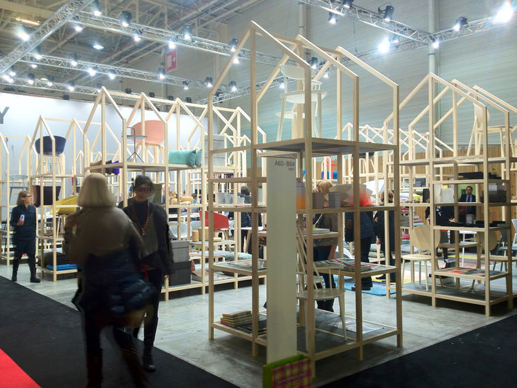 """Danish design company <a href=""""http://www.dwell.com/articles/a-visit-to-hay-copenhagen.html"""">HAY</a> takes the cake for Maison-booth-that-doubles-as-dream-wonderland. It was a smorgasbord of design, from everyday kitchen utensils to stationery to bedding"""