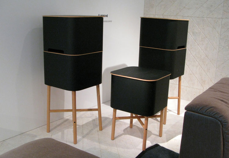 Cinna, the European relation of Ligne Roset, gives out a young designers prize each year. These stackable Ô Perché cabinets by Julie Pfligersdorffer are light, easy to re-arrange, and possessed of a fetchingly rounded silhouette.