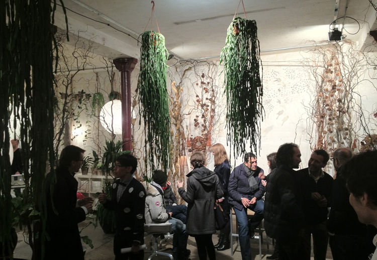 Christophe Pillet's Sezz collection with Emeco was held in a gorgeous space in the 10th arrondissement by the Canal St. Martin. Galerie Végétale's lush array of plants, living walls, and succulents formed a scenic counterpoint to the Pennsylvania company'