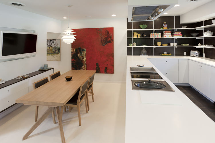 """Popp incorporated into the new cooking area a teppanyaki grill, induction cooktop and in-counter steamer he got at a discount from a Gaggenau display. Photo by <a href=""""http://mikegraffigna.com/"""">Mike Graffigna</a>"""