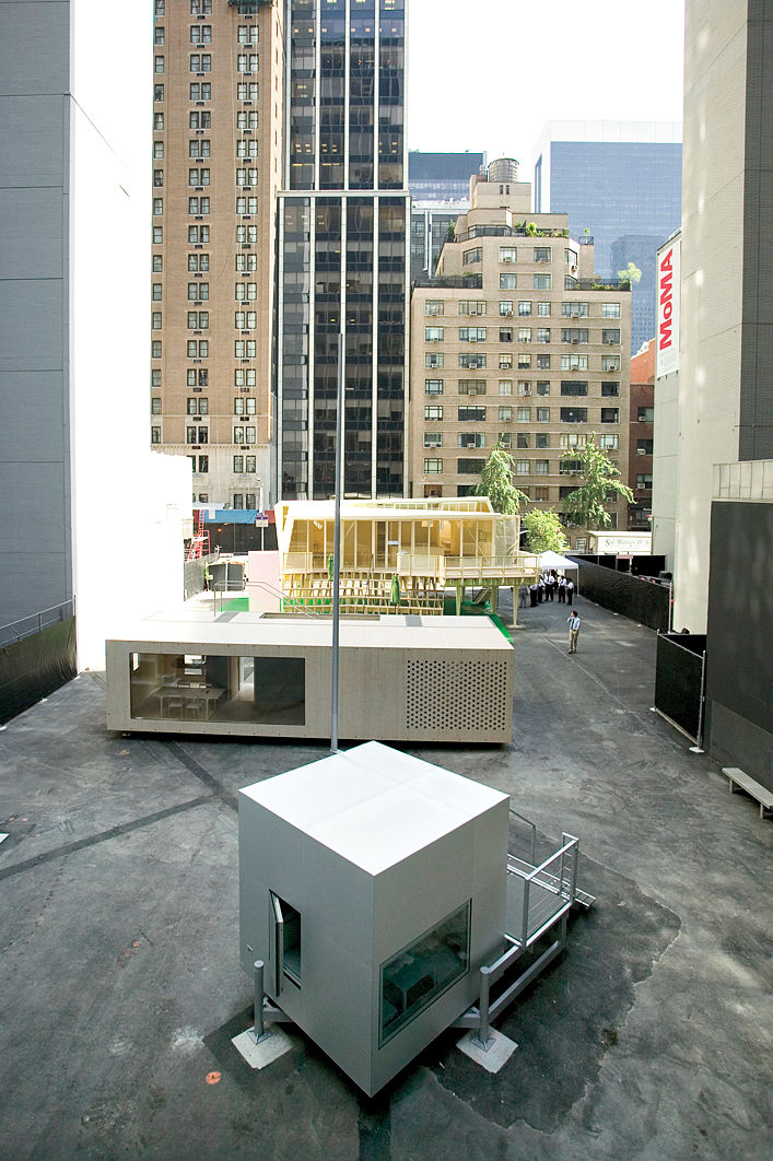 The Micro Compact Home was one of five prefabs constructed in an empty lot adjacent to MoMA.