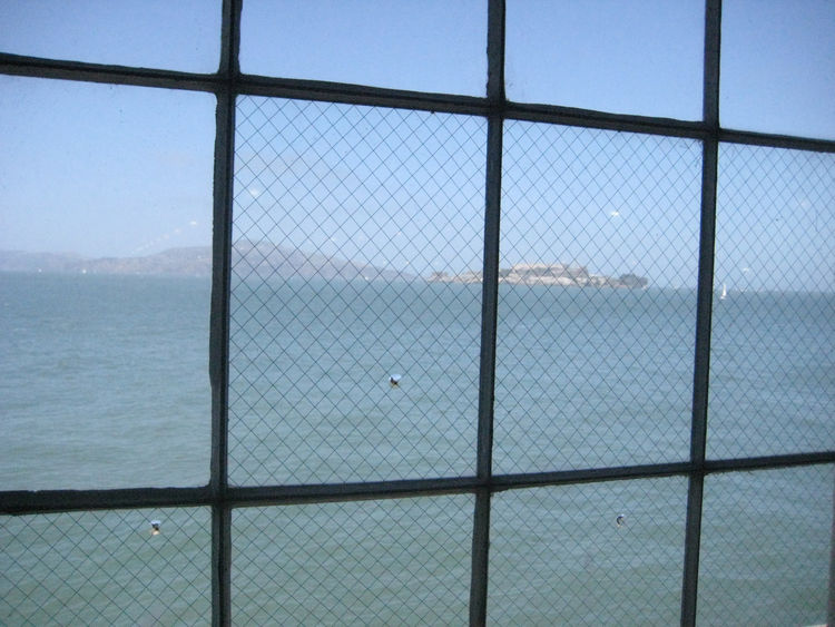 "Fort Mason, the venue for the SF Renegade Fair, sits right on the bay. It was an (unseasonably) clear day, and from the windows in the back you could see straight across to Alcatraz. <a href=""http://www.dwell.com/people/diana-budds.html"">Budds</a> and I c"
