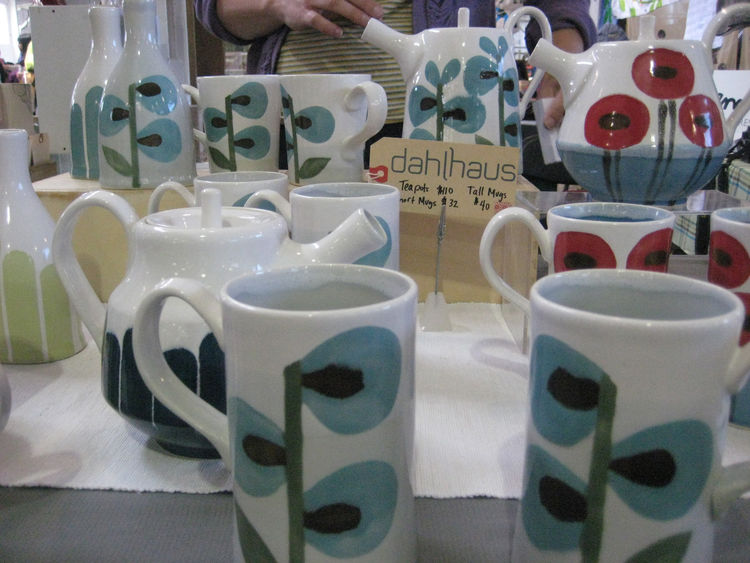 "I am a sucker for ceramics, and the big, bold florals on this collection from <a href=""http://dahlhausart.com/ceramics.php"">Dahlhaus</a> stood out."