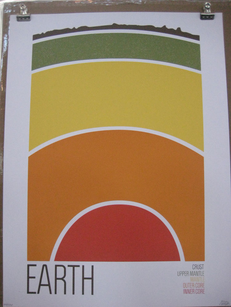 "<a href=""ttp://wearebrainstorm.com"">We Are Brainstorm</a> had a great collection of posters, including this one showing Earth right down to its colorful core."