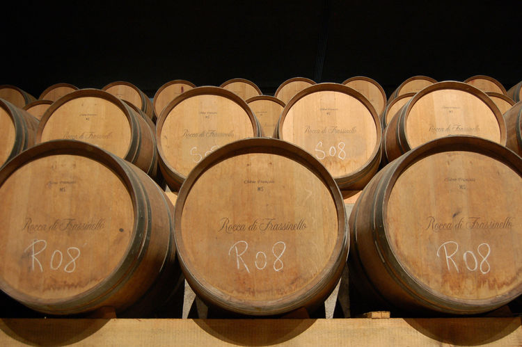 Each barrel is constructed of aged oak from France.