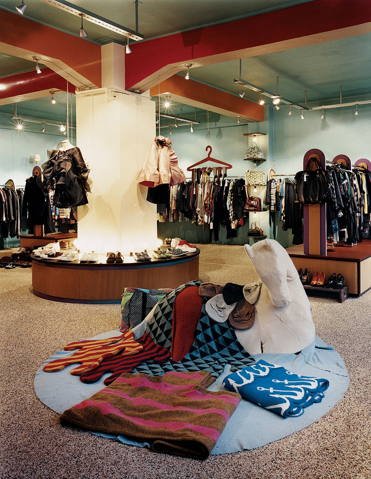 Kron Kron, a local shop, features the knitted seal-shaped robes, humorous mustache-guarding winter hats, and blankets by design collective Vik Prjónsóttir.