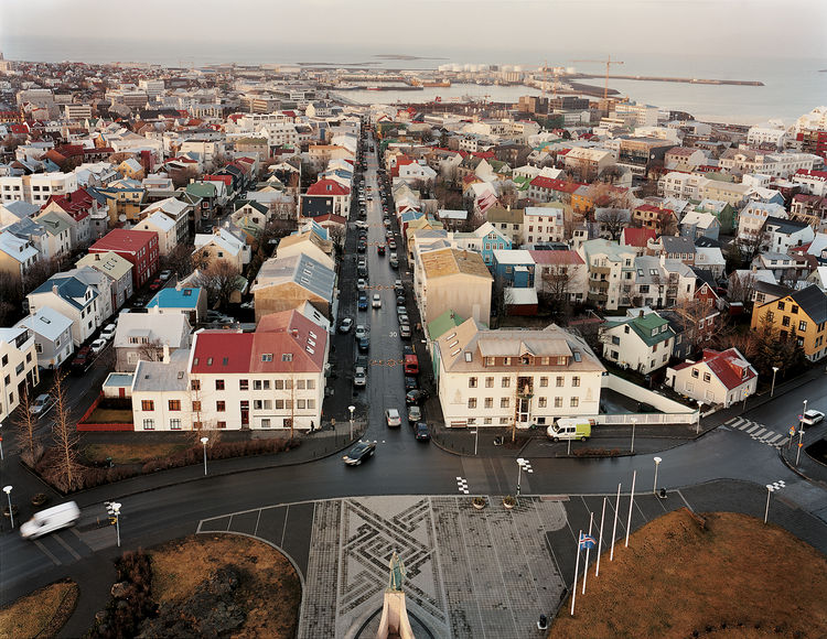 """Nearly two-thirds of Iceland's population of 300,000 lives in the greater Reykjavik area. The city's name means """"smoky bay."""" The view of the waterfront shows the rational architectural pragmatism that holds sway in much of the country."""