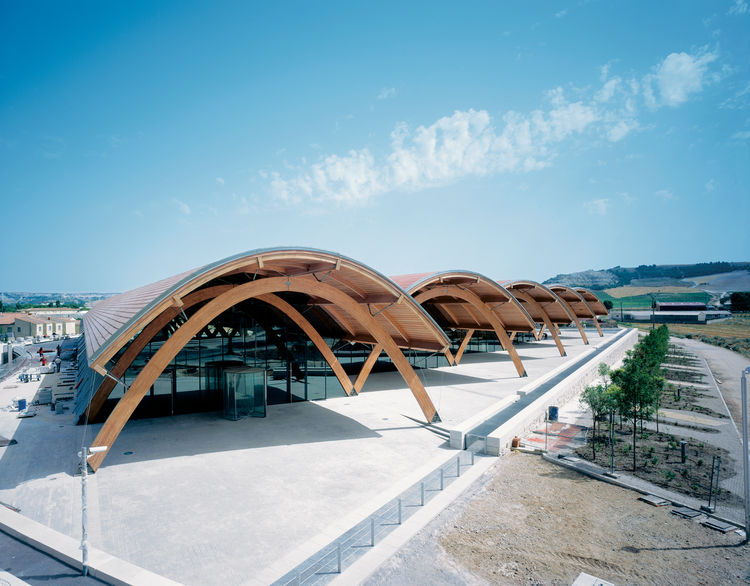 Completed in 2008, the addition to the Bodegas Protos winery in Spain includes over a mile of underground tunnels for aging wine.