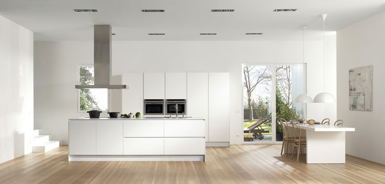 "<a href=""http://www.dica.es"">Dica</a> the Spanish company, known for its kitchens, baths and wardrobes, introduced their new vintage style SoHo kitchen (another popular trend at Milan), and series 45, an update on their more practical and versatile line ("