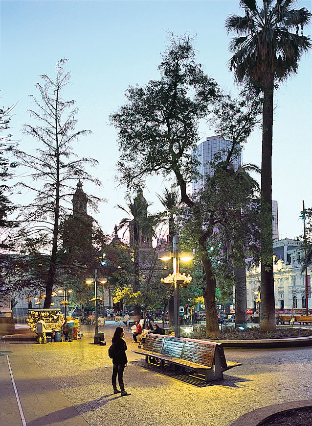 The city's heart beats in the palm-dotted Plaza de Armas, where even a brief visit reveals a slice of Santiago culture, from painters to musicians to chess players.