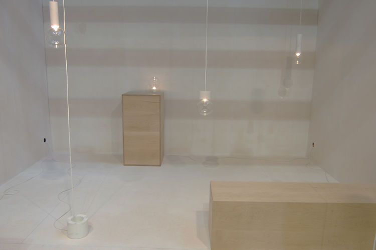 """<a href=""""http://studiovit.se/"""">studio vit</a>, a pair of designers from Sweden, displayed their second collection for SaloneSatellite entitled Marble Lights. Comprising pendants, floor and table pieces, the designers describe their conception thus: """"Origi"""