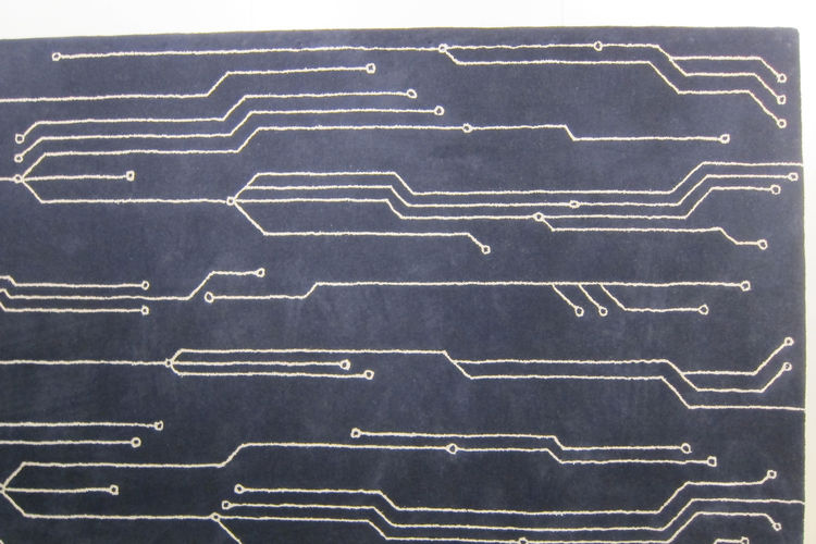 "Transistor, a rug design by architects Francesco Barberini and Nina Alexandra Gunnell of <a href=""http://www.barberini-gunnell.com/"">Studio Barberini & Gunnell</a>."