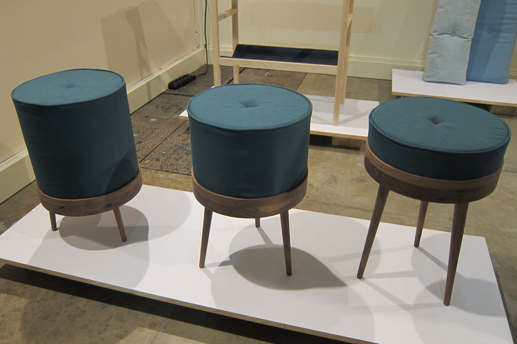 """The Royal Family, an interchangeable set of stools and cushions by German designer <a href=""""http://www.ellenheilmann.com/"""">Ellen Heilmann</a> for the design collective <a href=""""http://www.freshfromthemint.com/"""">Fresh from the Mint</a>."""