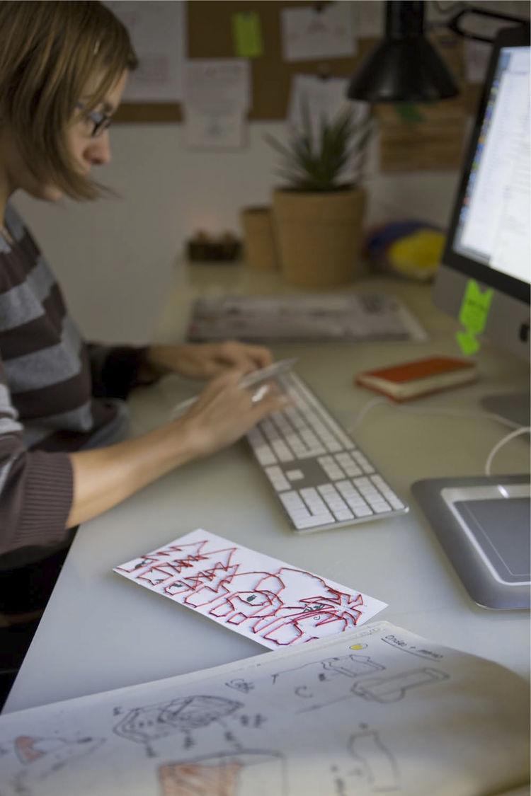 The designer at work.