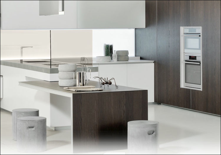 "The new ICON kitchen, designed by Giuseppe Bavuso for  <a href=""http://www.ernestomeda.com"">Ernestomeda</a>, is the ultimate in sustainable design; from Ernestomeda's patented ICONcrete to its zero-chemical finishes to Bavuso's new Air Door system which c"