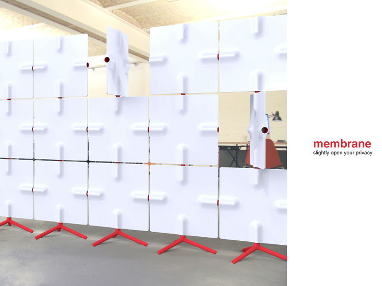 Membrane<br /><br /> Submitted by: Name not provided<br /><br /> Designer's Description: <br /><br />The room divider membrane is a product with many permutations. Depending on the situation, the user gets an opaque wall or a room divider with interesting